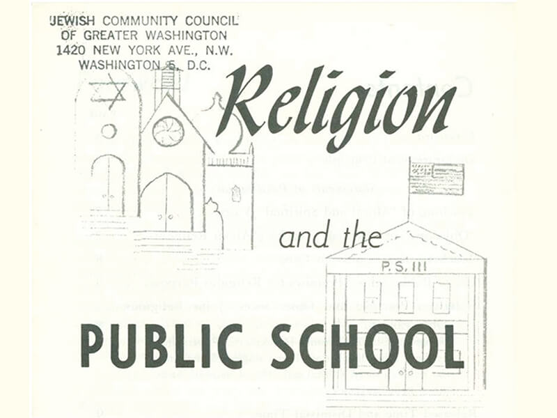 1956 - JCRC booklet informing parents of rights in public schools